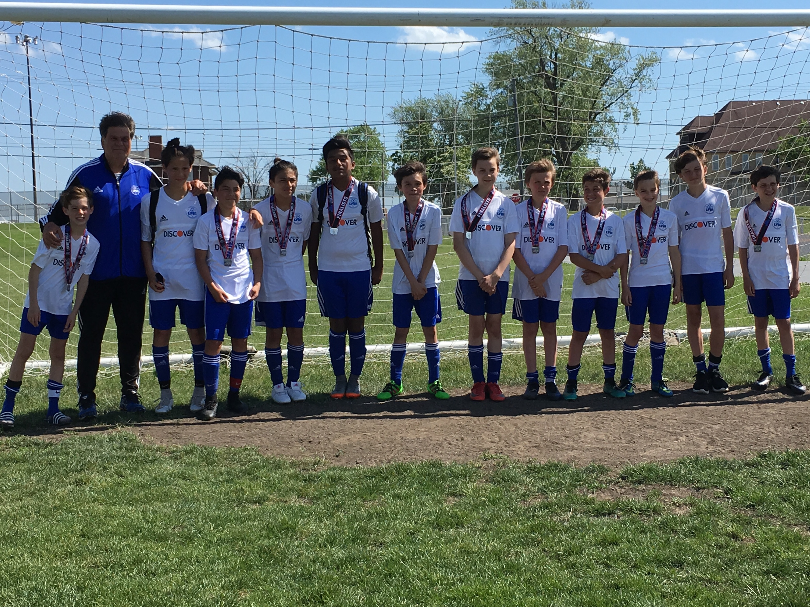 Boys U13 Select 1 takes 2nd place at the Libertyville Cup Tournament Champions Division